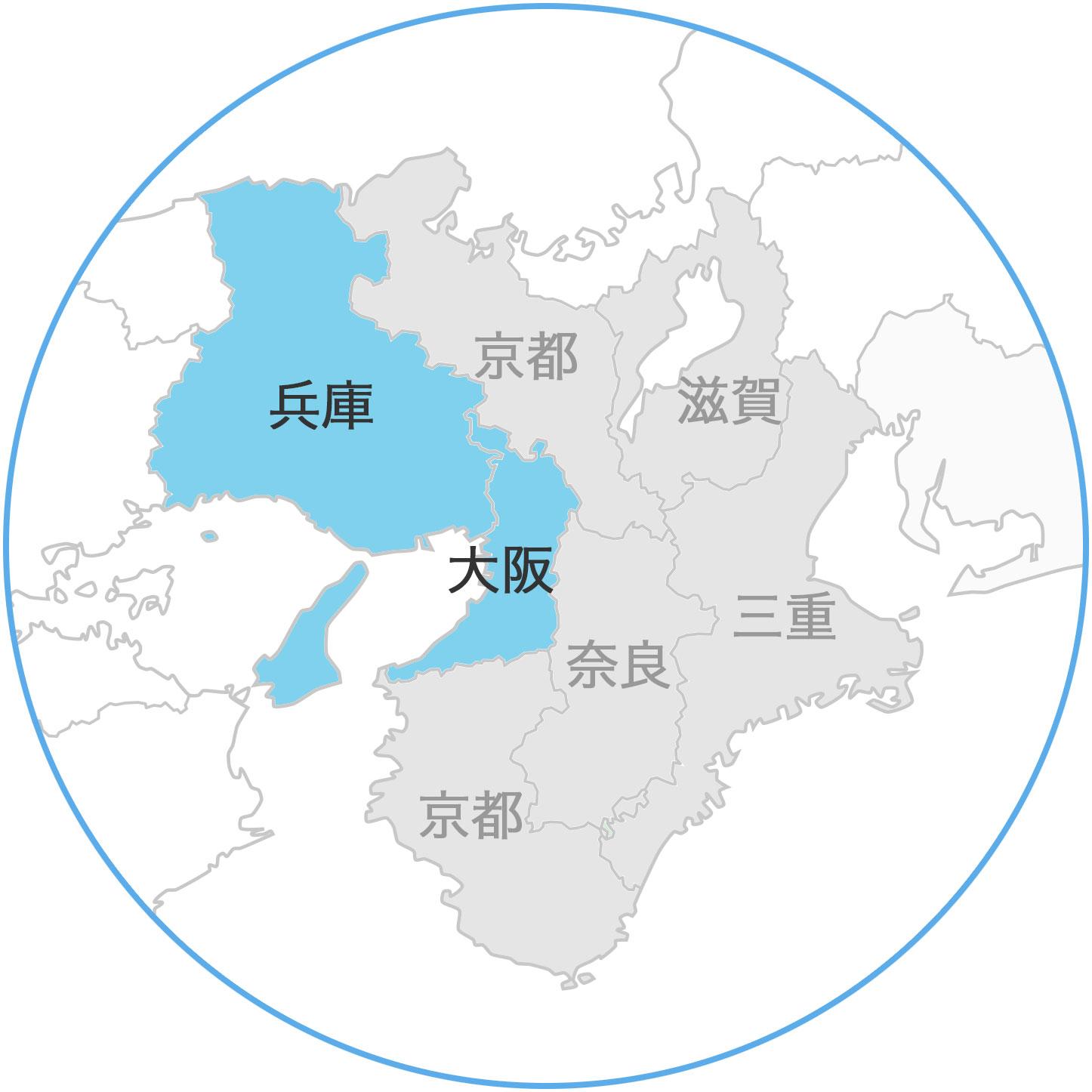 近畿地方地図